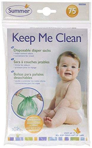 Summer Infant Keep Me Clean Disposable Diaper Sacks, Green - 150-Count