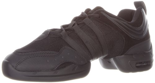 SANSHA Tutto Nero Dance Sneaker,Black,12 (10 M US Women's/7 M US Men's)