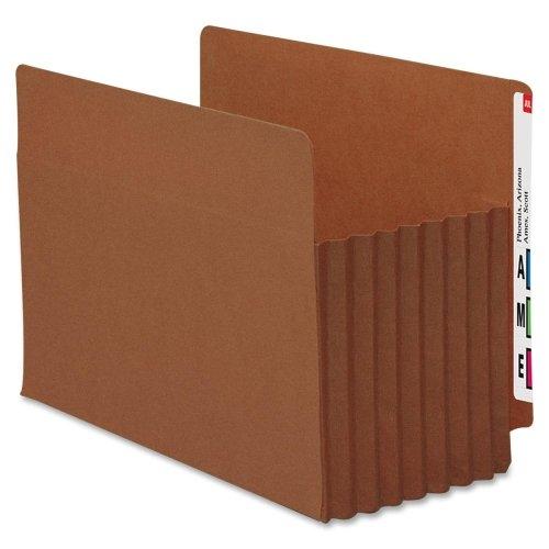 Wholesale CASE of 10 - Smead Tuff Pocket End Tab File Pockets-End Tab File Pockets, 7'' Exp, 5/BX, Letter, Red