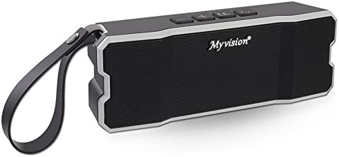 Bluetooth Speaker, IPX7 Water Resistant Myvision Outdoor Portable Stereo Speaker with HD Sound and Bass,Built-in Mic,Wireless Bluetooth 4.2 Hands Free Calling TF Card Slot Black