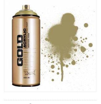 Acrylic Spray Paint (Montana GOLD Acrylic Professional Spray Paint 400 ml - Goldchrome)