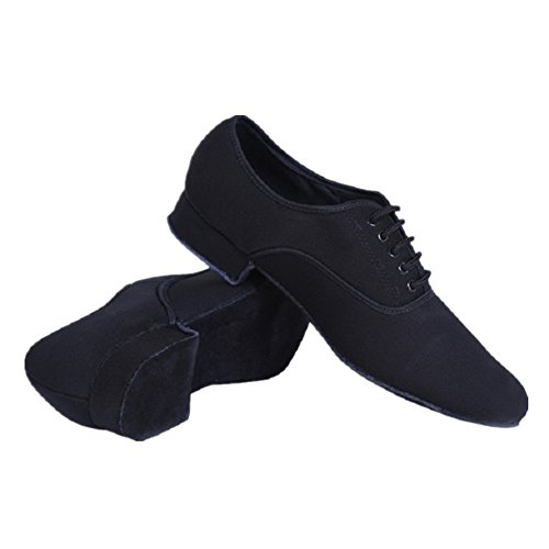 NLeahershoe Modern Men's Black Lace-up Oxford Clothes International Latin Dancing Shoes (6.5 D(M) US/38)