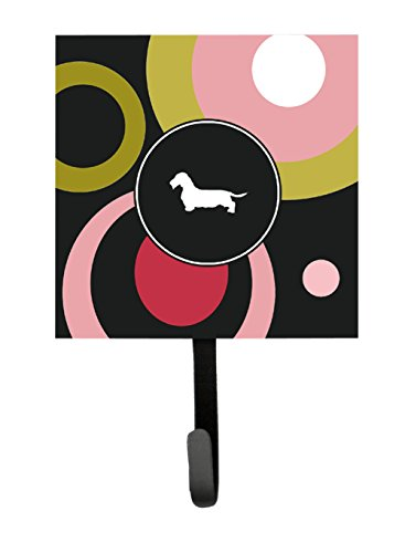 Dachshund Leash Holder (Caroline's Treasures KJ1133SH4 Dachshund Leash Holder or Key Hook, Small, Multicolor)