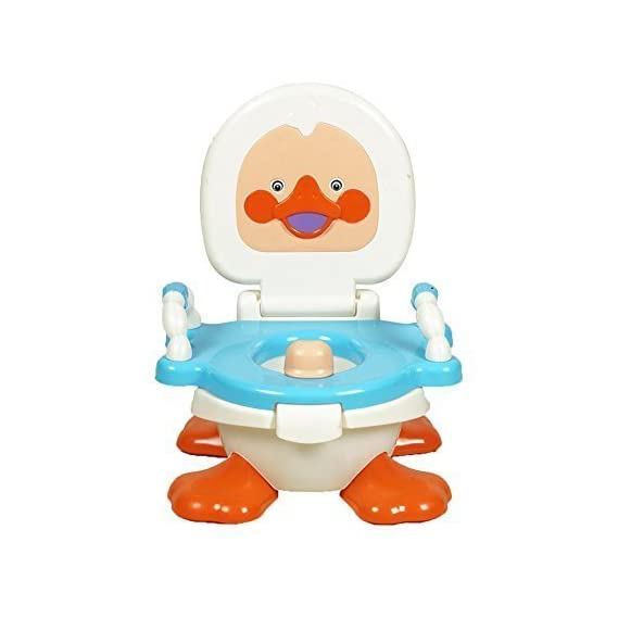 Panda Baby's Duck Potty Sheet with Handel (Blue)
