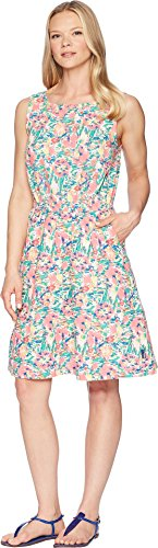 Columbia Women's Harborside Linen Dress Lollipop Flower Burst Small