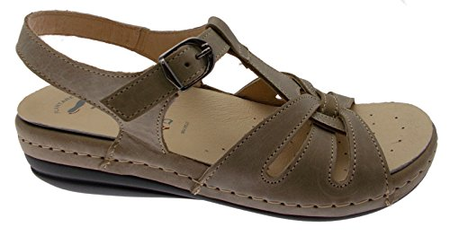 Riposella 9514 Taupe Sandal with Removable Orthopedic Insole 39 ZY66c