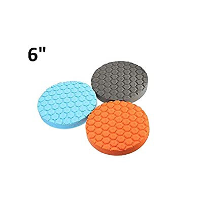 3pcs 6/7 Inch Buff Polishing Pad kit for Car Polisher (6 INCH): Industrial & Scientific