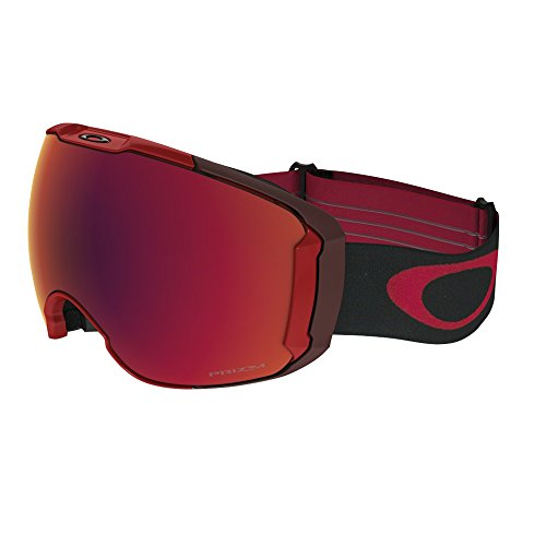 Oakley Men's Airbrake XL Snow Goggles, Obsessive Lines Red, Prizm Torch Iridium, - Red Goggles Oakley