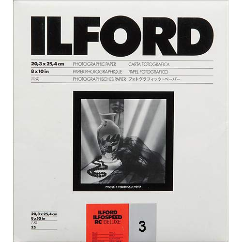 Ilford ILFOSPEED RC Deluxe Paper (44M Pearl, Grade 3, 8 x 10, 25 Sheets) by Ilford