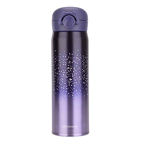 (Water Bottle Thermoses Starry Sky, Thermal Vacuum Cups for Hot and Cold Drinks, BPA Free Stainless Steel Insulated Leak-proof Flask for Boys and Girls School Kids Indoor Outdoor Sports(17 oz Purple)))