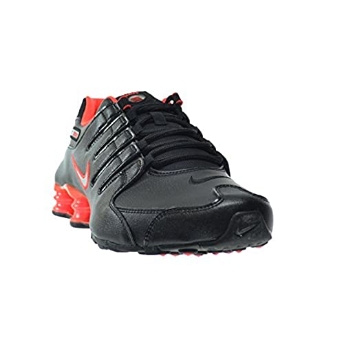 9ad76c549ff 50%OFF Nike Shox NZ Men s Shoes Black Metallic Silver-Bright Crimson 378341