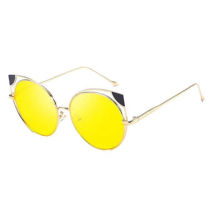 Yying Cat Eye Gafas de sol Mujer Marca Moda Oro Gafas de sol ...