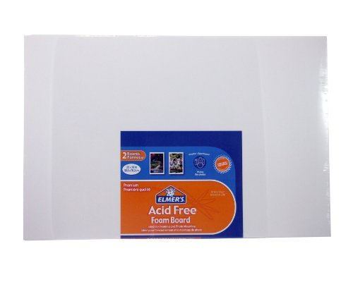 Elmer's Guide-Line Foam Boards, 20 x 30 Inches, White, 2-Count (905100) by Elmer's