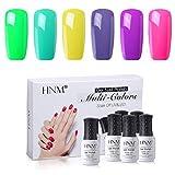 HNM Gel Nail Polish Set Soak Off UV LED Nail Varnish Manicure Salon Nail Art Starter Kit 6 Colors Gift Box C009