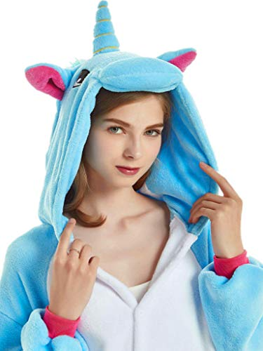 Unicorn Costume Adult Onesies for Women Girls Halloween Christmas Animal Pajamas (M Fit Height 63