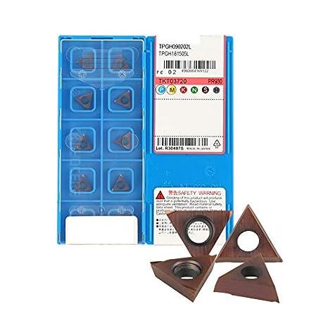 YZ66 TPGH090202L TPGH181505L PR930 - Juego de 10 insertos de ...