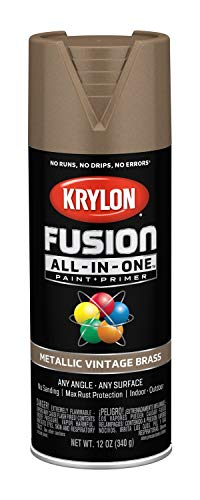 Krylon K02774007 Fusion All-in-One Spray Paint, Vintage Brass