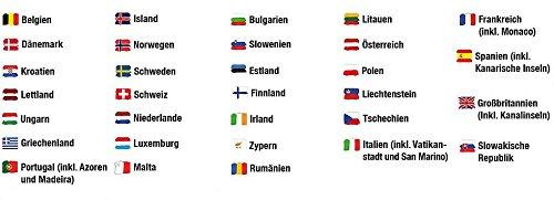 Alle Eu Länder Karte.Europa Sim Karte 750mb Mobiles Internet Amazon De Elektronik