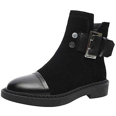 Ue39 Bootie De De Combate Toe Mujer RTRY De Otoño Uk6 Negro Suede Ronda Us8 Botas Cerrado Invierno 5 5 Bajo La Auténtico Botas Zapatos Confort Moda CN39 US8 EU39 Talón Cuero Toe Botas UK6 Cuero Cn40 PRxaqfw5