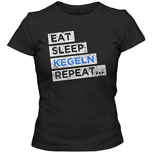 Hobby Kegeln #1 T-Shirt | Kegel-Shirt | Eat Sleep Repeat | Kegelclub |  Frauen | Shirt: Amazon.de: Bekleidung