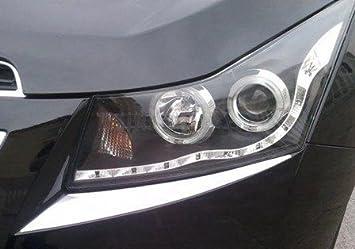 Accesorio tuning para Chevrolet Cruze - panele de cromo para faro: Amazon.es: Coche y moto