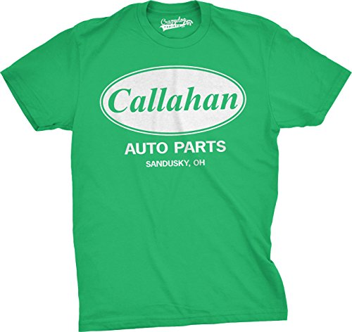 Mens Callahan Auto T shirt Funny Shirts Cool Humor Tees Sarcasm (Green) L (Cool Movie Quotes)