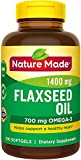 Nature Made Organic Flaxseed Oil 1,400 mg - Omega-3-6-9 for Heart Health - 300 Count (Pack of 1)