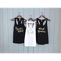 Custom Bachelorette Party Tank Tops | Maid of Honour | Wedding Party | Bridesmaid | Maid of Honor |Bride