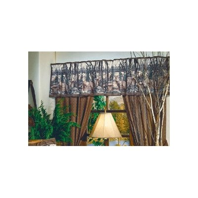 Whitetail Dreams Rod Pocket Ruffled Curtain Valance
