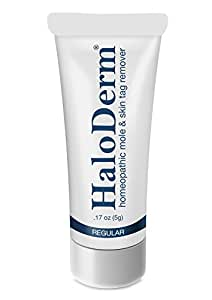 HaloDerm Removes 3 Moles or Skin Tags. Low Cost Effective Mole and Skin Tag Remover. All Natural Skin Tag Removal Cream.