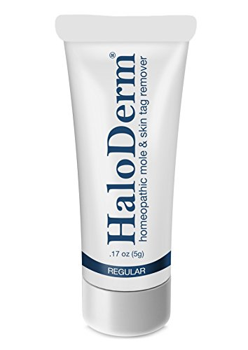HaloDerm Removes 3 Moles or Skin Tags. Low Cost Effective Mole and Skin Tag Remover. All Natural Skin Tag Removal Cream. (Alle 2 Tag)