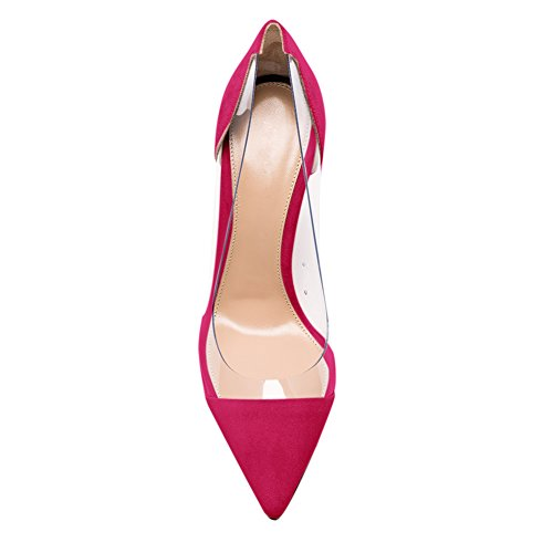 Stiletto Rosa Pumps Rutsch Zehen Heels Sandalen High Samt Spitze Durchsichtig Damen Onlymaker wHxCa8qn4