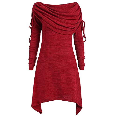 vermers Fashion Womens Tops Casual Applique Flowy Chiffon V-Neck Long Sleeve Blouse(3XL, z-Red)
