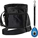 Loilee Dog Treat Training Pouch Bag Adjustable Strap One Set Training Clicker