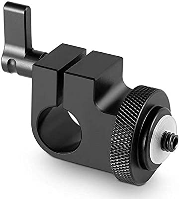 "SmallRig Single 15mm Rod clamp with 1//4/"" Screw for Support Rail Rig and monitor"