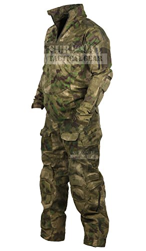 20f3ce7e ZAPT Tactical Military Uniform Paintball Airsoft Hunting Army Camo Apparel  Shirt and Pants with Elbow Knee