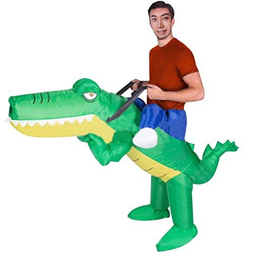 Wecloth Adult Inflatable Suit Crocodile Costume Funny Dress Bar Comic Clothes (Dinosaur Costume Comic)