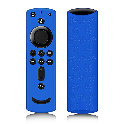 Remote Cover for Fire TV Stick 4K, Silicone Remote case for Fire TV Cube/Fire TV(3rd Gen) Compatible with All-New 2nd Gen Alexa Voice Remote Control, Lightweight Anti-Slip Shockproof (Dark Blue)