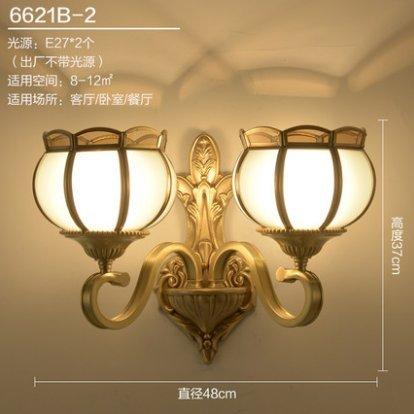 WYMBS Cu alle wohnzimmer schlafzimmer bett continental Wandleuchten Leuchten TV Wand amerikanischen ,Doppel Kopf