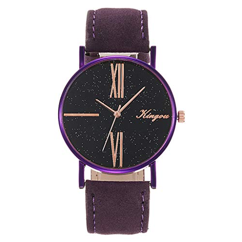 (Mitiy Fashion Geneva Roman Numerals Faux Leather Analog Quartz Women Wrist Watch for Men Women Bracelet Watch)