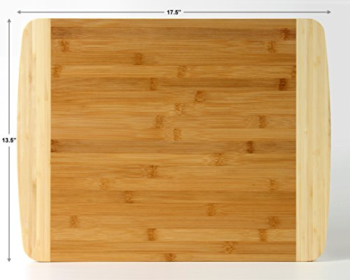 extra large bamboo cutting board for kitchen with juice groove 17 5 x 13 5 x inch mk. Black Bedroom Furniture Sets. Home Design Ideas