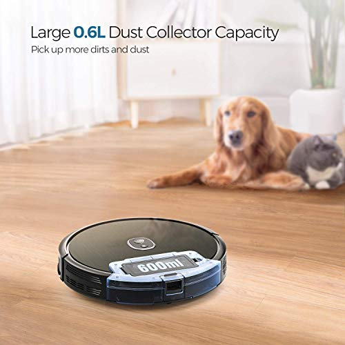 Robot Vacuum, dser 1600Pa Robotic Vacuum Cleaner, BoostGen Technology, 360° Smart Sensor Protection, Self-Charging with 2 Boundary Strips, Quiet, Cleans Carpets Hard Floors and Pet Hair (RoboGeek 20T)