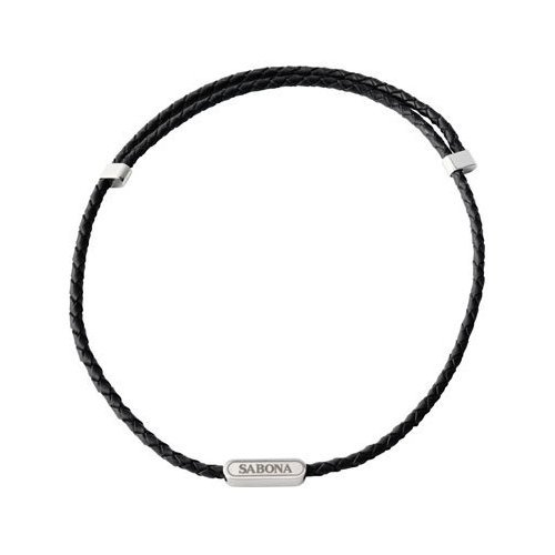 Sabona Leather Magnetic Necklace (Black), Outdoor Stuffs
