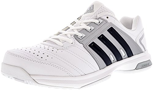 adidas Men's Barricade Approach STR Tennis Shoes White/Collegiate Navy/Matte Silver (8.5 M US)