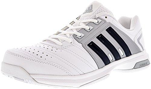 adidas Men's Barricade Approach STR Tennis Shoes White/Collegiate Navy/Matte Silver (8.5 M US)