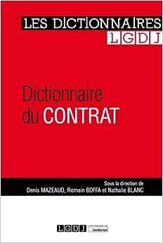 Dictionnaire du contrat