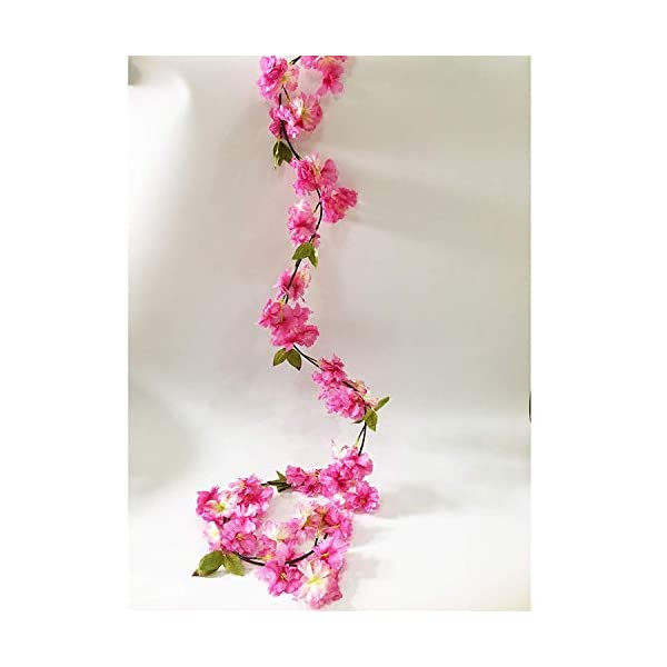 Artfen-Artificial-Cherry-Blossom-Hanging-Vine-Plants-Faux-Garland-Fake-Wreath-Artificial-Flower-Home-Hotel-Office-Wedding-Party-Garden-Craft-Art-Decor-58-FT