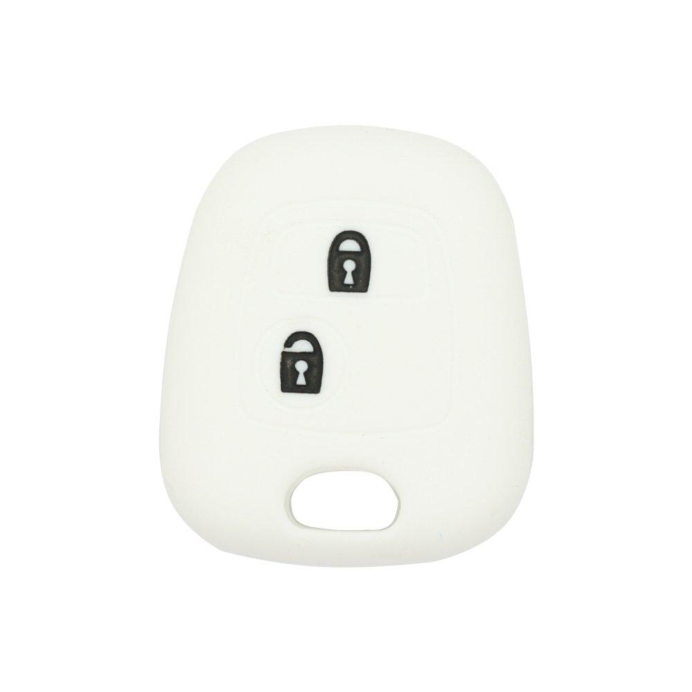 a 2 tasti Guscio chiave telecomando Fassport per Peugeot e Citroen senza simbolo CV9304