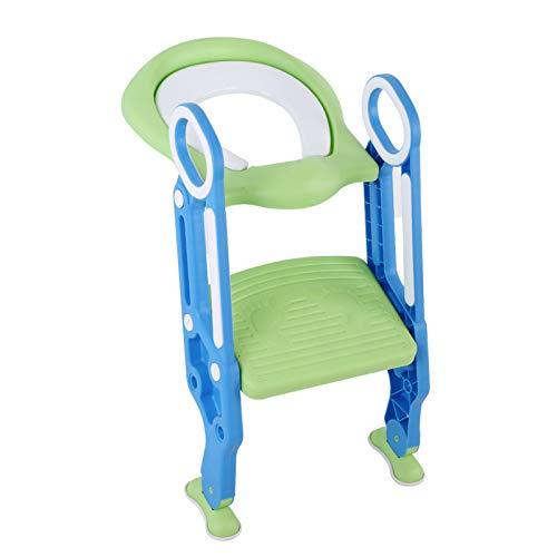 Toilettrainer, toiletstoel, ladder, toilettrainer met trap, zachte potjesbril, verstelbare veiligheids-potjes…