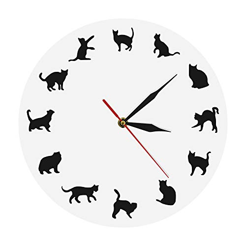 The Geeky Days Cat Wall Clock 12